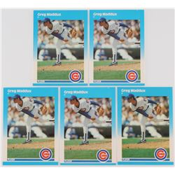 Lot of (5) 1987 Fleer Update #68 Greg Maddux XRC