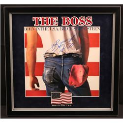 "Bruce Springsteen Signed ""Born In the USA"" 18x18 Custom Framed Album Display (JSA LOA)"