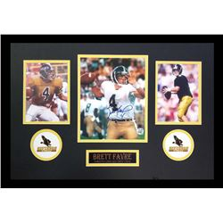 Brett Favre Signed Southern Miss Golden Eagles 16x26 Custom Framed Photo Display (Favre COA)