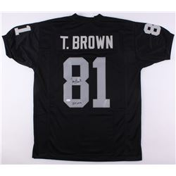 "Tim Brown Signed Raiders Jersey Inscribed ""HOF 2015"" (JSA COA  Brown Hologram)"