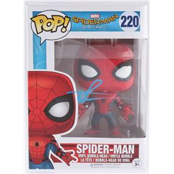 "Tom Holland Signed ""Spider-Man Vinyl Bobble-Head Funko Pop Figure (JSA Hologram)"
