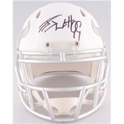 J.J. Watt Signed Texans Custom Matte White ICE Speed Mini Helmet (JSA COA)