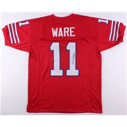 "Andre Ware Signed Houston Cougars Jersey Inscribed ""89 Heisman"" (JSA COA)"