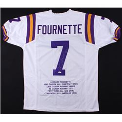 Leonard Fournette Signed LSU Tigers Career Highlight Stat Jersey (JSA COA)