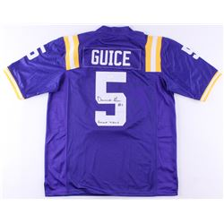 "Derrius Guice Signed LSU Tigers Jersey Inscribed ""Geaux Tigers"" (JSA COA)"