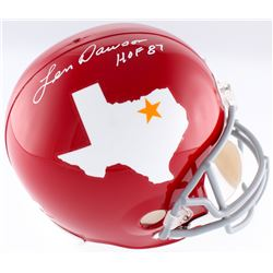 "Len Dawson Signed Dallas Texans Throwback Full-Size Helmet Inscribed ""HOF 87"" (Radtke COA)"