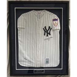 Mickey Mantle Signed LE Yankees 1951 Rookie Year Mitchell  Ness 34x42 Custom Framed Throwback Jersey