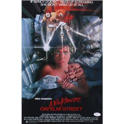 "Heather Langenkamp Signed ""Nightmare on Elm Street"" 12x18 Photo Inscribed ""3,4 Better Lock Your Door"