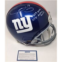 "Odell Beckham Jr. Signed Giants Full-Size Authentic On-Field Helmet Inscribed ""NYG Rookie Record  ""1"