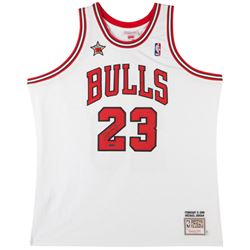 Michael Jordan Signed Bulls 1998 NBA All Star Authentic Mitchell  Ness Jerey (UDA COA)