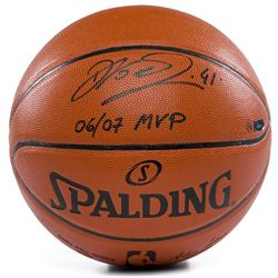 "Dirk Nowitzki Signed LE Game Ball Series Basketball Inscribed ""06/07 MVP"" (Panini COA)"