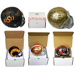 Schwartz Sports Football Superstar Signed Mystery Box Mini Helmet - Series 4 -**Full Size Helmet Red