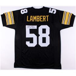"Jack Lambert Signed Steelers Jersey Inscribed ""HOF '90"" (JSA COA)"