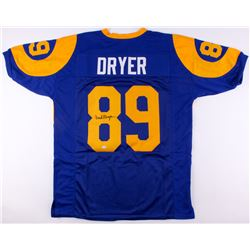 Fred Dryer Signed Rams Throwback Jersey (SGC COA)