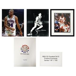NBA 50 Greatest Mystery 8x10 Photo - Series 1 (Pristine Exclusive Edition) – Limited to 100 – *G