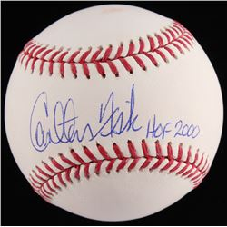 "Carlton Fisk Signed OML Baseball Inscribed ""HOF 2000"" (JSA COA)"