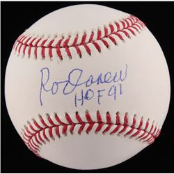 "Rod Carew Signed OML Baseball Inscribed ""HOF 91"" (JSA COA)"
