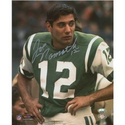 Joe Namath Signed Jets 8x10 Photo (FSC COA  Namath Hologram)