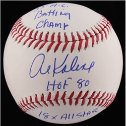 "Al Kaline Signed OML Baseball Inscribed ""55 A.C Batting Champ"", ""HOF 80""  ""18x All Star"" (JSA COA)"
