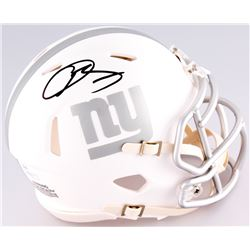 Odell Beckham Jr. Signed Giants Custom Matte White ICE Speed Mini Helmet (JSA COA)
