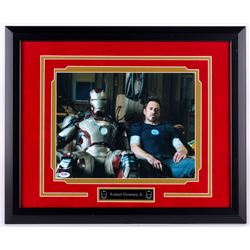 "Robert Downey Jr. Signed ""Iron Man"" 18.5x21.5 Custom Framed Photo Display (PSA COA)"