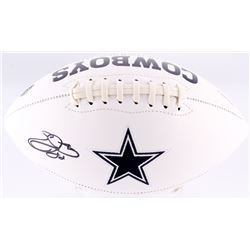 Emmitt Smith Signed Cowboys Logo Football (Beckett COA)