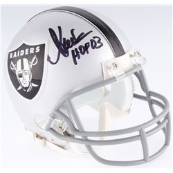 "Marcus Allen Signed Raiders Mini-Helmet Inscribed ""HOF 03"" (JSA COA)"