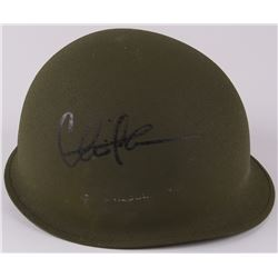 "Charlie Sheen Signed ""Platoon"" Vietnam Era Authentic Army Helmet (PSA COA)"