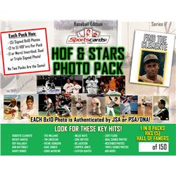 HOF  Superstars Baseball Photo Mystery Pack - (5) Signed Photos per Pack!