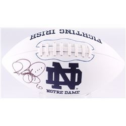 Jerome Bettis Signed Notre Dame Fighting Irish Logo Football (JSA COA)