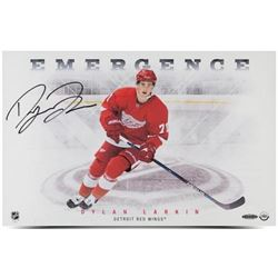 "Dylan Larkin Signed Red Wings ""Emergence"" 11x17 Photo (UDA COA)"
