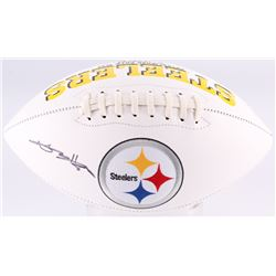 Antonio Brown Signed Steelers Logo Football (JSA COA)