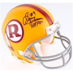 "Sonny Jurgensen Signed Redskins Throwback Mini-Helmet Inscribed ""HOF 83"" (JSA COA)"