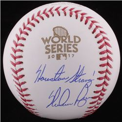 "Nolan Ryan Signed 2016 World Series Logo Baseball Inscribed ""Houston Strong"" (FSC COA)"
