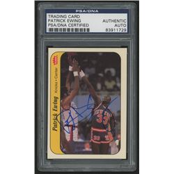 Patrick Ewing Signed 1986-87 Fleer Stickers #6 (PSA Encapsulated  Steiner Hologram)