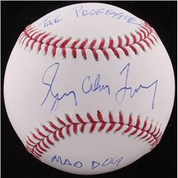 "Gregory Alan Maddux Signed OML Baseball Inscribed ""The Professor""  ""Mad Dog"" (PSA COA)"