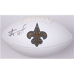 Alvin Kamara Signed Saints Logo Football (JSA COA)