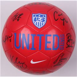 Nike Team USA Soccer Ball signed by (9) Morgan Bryan, Becky Sauerbrunn, Carli Lloyd,  Hope Solo (JSA