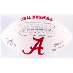 "CJ Mosley Signed Alabama Crimson Tide Logo Football Inscribed ""2012 - 13 BCS Champs"" (JSA COA)"