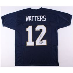 "Ricky Watters Signed Notre Dame Fighting Irish Jersey Inscribed ""1988 National Champs""  (SGC COA)"