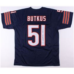 "Dick Butkus Signed Bears Jersey Inscribed ""HOF 79"" (JSA COA)"