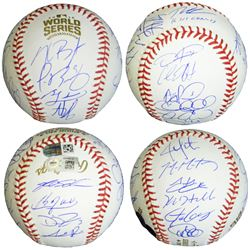 Chicago Cubs 2016 World Series Champion Team-Signed OML Baseball with (22) Signatures Including Anth