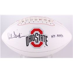 """Archie Griffin Signed Ohio State Logo Football Inscribed """"H.T. 1974/75"""" (Radtke COA)"""