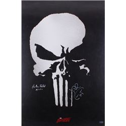"Jon Bernthal  Ebon Moss-Bachrach Signed ""The Punisher"" 24x36 Movie Poster Inscribed ""Micro"" (Radtke"