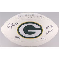 "Brett Favre Signed Packers Logo Football Inscribed ""Last to Wear 4"" Limited Edition #18/44 (Favre Ho"