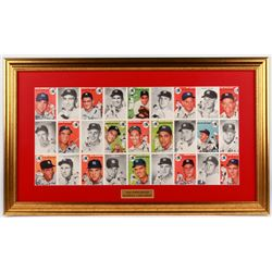 Second Issue Sports Illustrated 17.75x29.75 Custom Framed 1954 Topps Baseball Card Pull-out Display