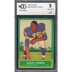 1963 Topps #44 Deacon Jones RC (BCCG 9)