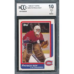 1986-87 Topps #53 Patrick Roy RC (BCCG 10)