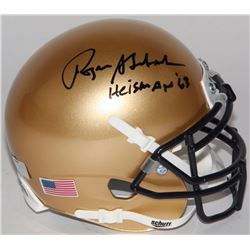 "Roger Staubach Signed Navy Midshipmen Mini-Helmet Inscribed ""Heisman '63"" (Radtke COA)"