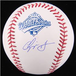 Chipper Jones Signed 1995 World Series Logo Baseball (JSA COA)